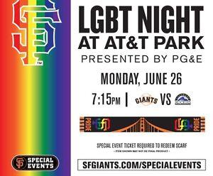 San Francisco Giants 2017 LGBT Night Pride Scarf New