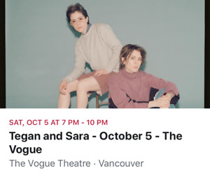 Tegan And Sara Tickets - SOLD OUT SHOW