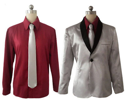 Joker Costumes For Men (Halloween Christmas Cosplay Suicide Squad Joker Costume and Wig for)