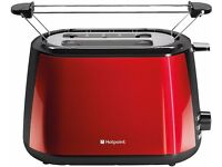 New Boxed HOTPOINT My Line TT22MDR0L Toaster 2-Slice Red Was: £59.99