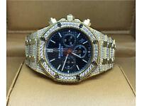 Audemars piguet diamond gold iced out not Rolex Cartier watch