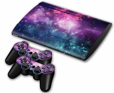 PS3 PLAYSTATION 3 Super Slim Skin Design Sticker Protector -Galaxy Space Style