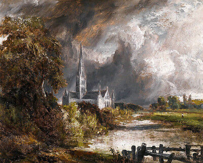 John Constable  Salisbury Cathedral from the Meadows   Wall  Art  (John Constable Salisbury Cathedral From The Meadows)