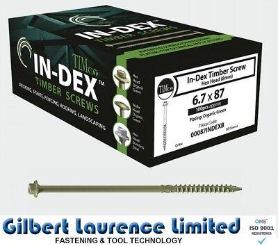 HEX HEAD LANDSCAPE SCREWS SLEEPER DECKING FIXING.TIMBERFIX,TIMBERLOK,IN-DEX TYPE