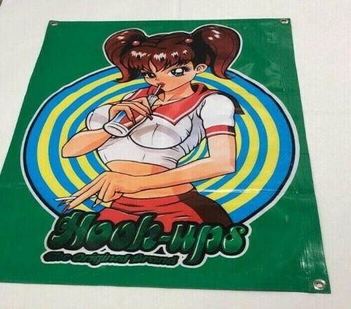 Skateboard+poster+Hook+Ups+school+girl+anime+surf+cap+deck+banner+sign+figure