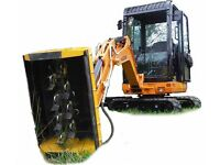 Excavator flail head to fit 3/4-3T diggers