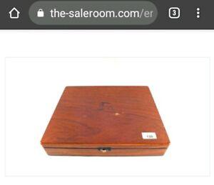 Oak cased cigar case box by A.M.Hirschsprung & Sonner, Kobenhavn