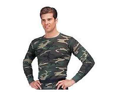 Camo Thermal Underwear Top - Rothco Thermal Underwear Top Woodland Camo plus sizes available