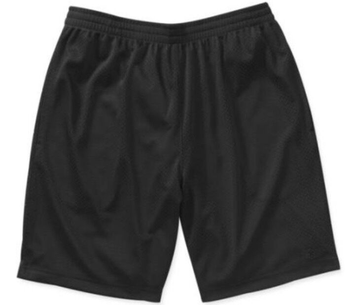 NEW Starter Mens Active Mesh Basketball Running Shorts Black