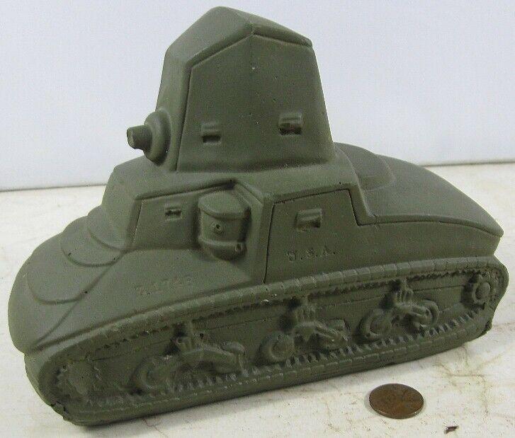 Rare Antique WWI Tank Chalk Bank