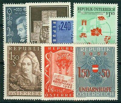 Österreich Jahrgang 1956 Michel Nr. 1024-1030 postfrisch