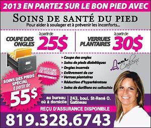 soins santé des pieds anne-cadieux special a partir 55 dollard Gatineau Ottawa / Gatineau Area image 1
