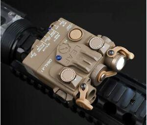 WADSN DBAI-A2 LED White Flashlight RED Laser IR Pointer Device FDE TAN