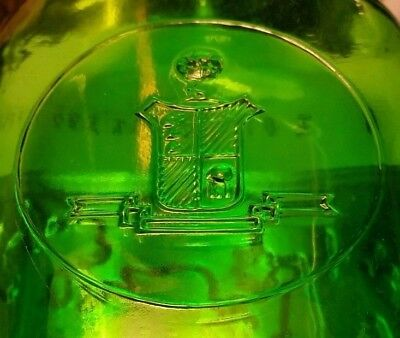 Vintage Green Bottle Continental Distilling Corp Philadelphia PA 16 oz~Empty