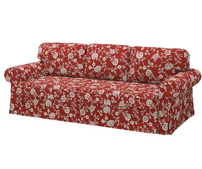 Ikea Cover for Ektorp Vretstorp 3 seat sofa bed in Virestad Red/White...