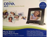 "8"" Ceiva Digital Photo Frame With Sd Card Slot Wi-Fi And Broadband Ready"