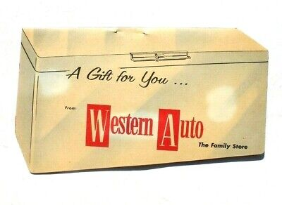 Antique Vtg Needle Book Sample Case - Advertising of Western Auto