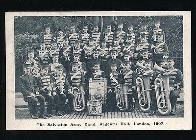 SALVATION ARMY Band London Regent's Hall 1907 unused PPC