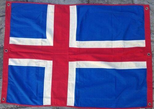 Iceland Nautical Flag FULLY SEWN Vintage Style 140cm x 100cm With 6 Eyelets