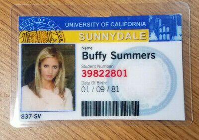 Buffy Vampire Slayer ID Badge-Sunnydale Buffy Summers prop costume