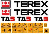 Terex Ta3 Decalcomanie E Dumper - electrolux rex - ebay.it