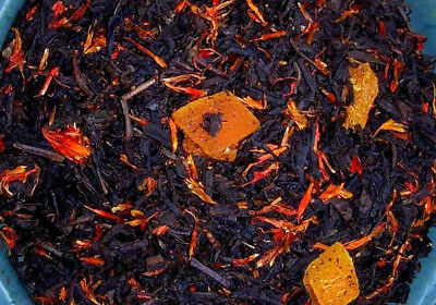 Naturally Flavored Black Tea - Tea Peach Mango Deep Black Fruit Sonata Flavored Loose Leaf Aged Blend Natural
