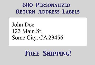 "600 Large Printed Return Address Labels 1"" x 2-5/8"" Inch 1"" x 2.625"""