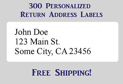 300 Large Printed Return Address Labels 1 X 2-58 Inch 1 X 2.625