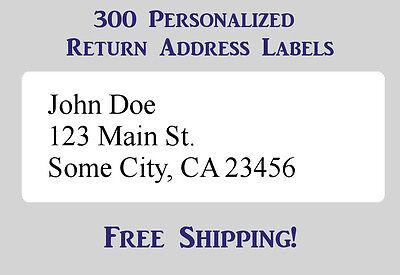 "300 Large Printed Return Address Labels 1"" x 2-5/8"" Inch 1"" x 2.625"""