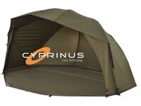 """Cyprinus Rapide MK2 55"""" Carp Fishing Brolly Fishing Shelter - Perfect Condition"""