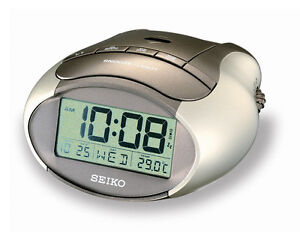 Seiko Desk Bedside Illuminating Alarm Clock QHL023S UK Seller
