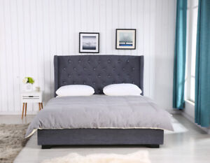 High End Complete Upholstered Bed Set- BRAND NEW