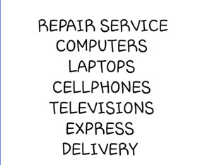 Cellphone and ipad and tablet screen repair and television TV re
