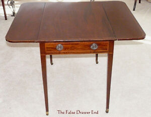 Antique Mahogany Drop-leaf Pembroke Table - New Price Kingston Kingston Area image 3
