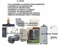 HEATING(FURNACE) and AIR CONDITIONER (HVAC) INSTALLATION & REPAI