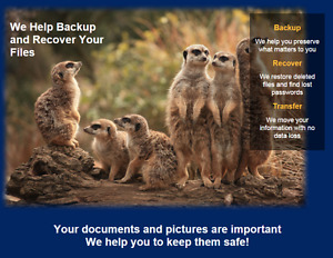 We Help Backup and Recover Your Files