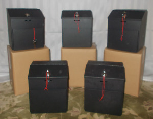 Brand New Black Suggestion Boxes with key