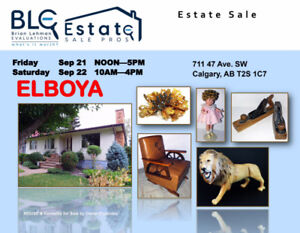 Estate Sale Calgary 2 Days Only! 711 47 Ave SW