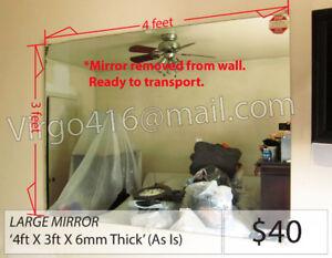 ~ = LARGE Mirror Pane: 4ft X 3ft X 6mm = ~