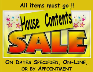 HOUSE CONTENTS SALE