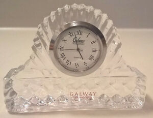 Galway Irish Crystal Miniature Mantle Clock