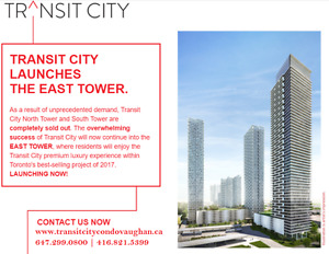 Vaughan New Condos Transit City ★ By TTC Subway VIP + Gift Card