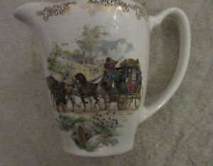 Lord Nelson Pottery England Water Jug country side carriage