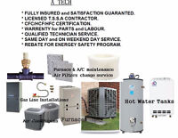 HEATING  and AIR CONDITIONER  INSTALLATION & REPAIR SERVICE.