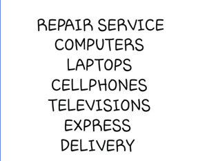 Cellphone and ipad and tablet screen repair service express deli