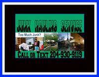 JUNK HAULING SERVICE CALL OR TEXT TODAY