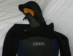 Winter hooded surf wet suit