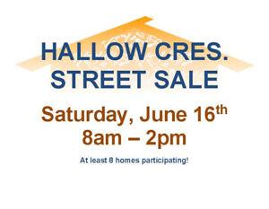 Street Sale x 10 Garage Sales - Hallow Crescent