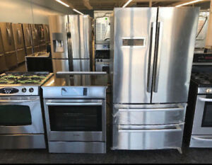 CHRISTMAS TIME - 24' or 30' STOVE STAINLESS STEEL/ WHITE -DELIVE