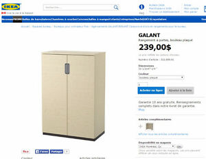 IKEA GALANT 302.889.91 Rangement à portes, bouleau plaqué